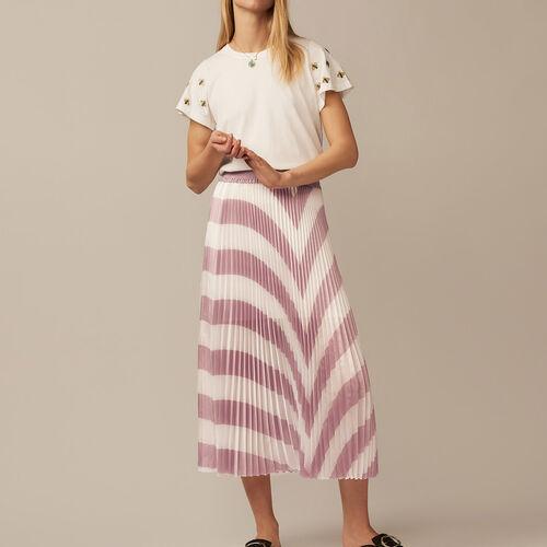 Falda larga plisada : staff private sale color LILA