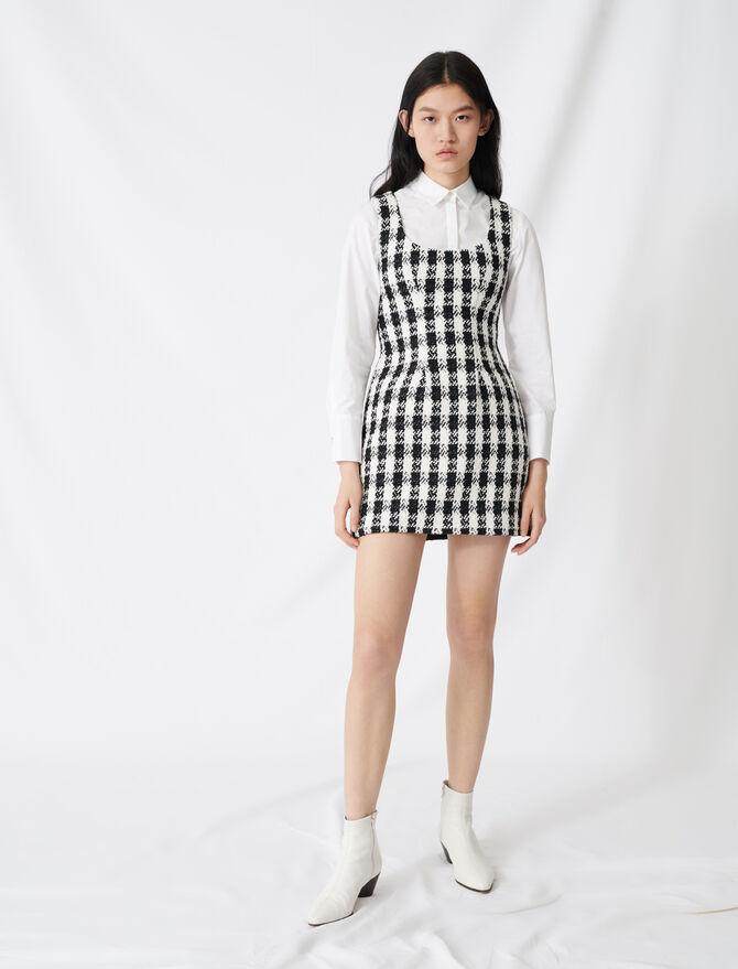 Vestido sin mangas estilo  tweed - Vestidos - MAJE