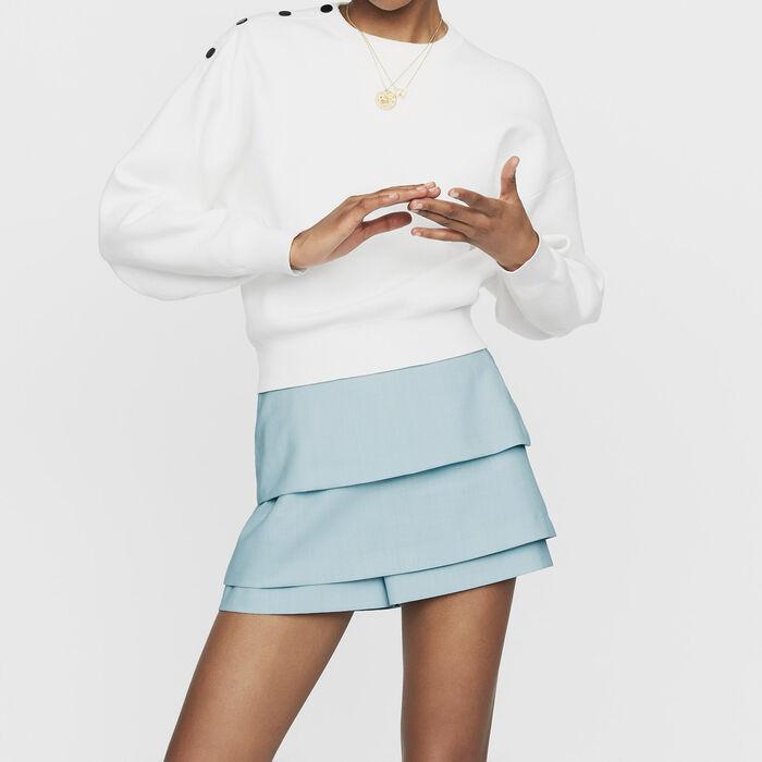 Jersey con botones en los hombros : Prêt-à-porter color ECRU