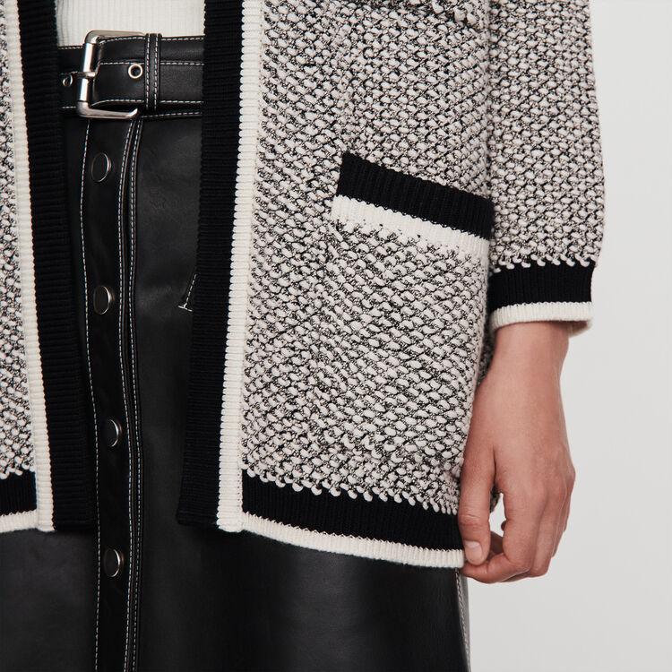 Cárdigan con bandas a contraste : Jerseys y cárdigans color Negro