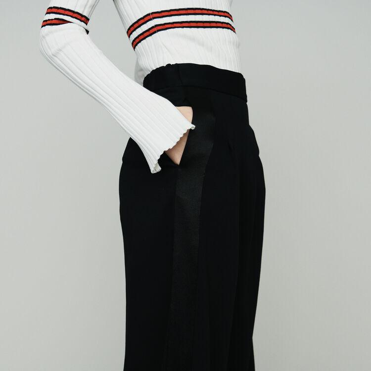 Panty falda en crepe : Pantalones y Jeans color Negro