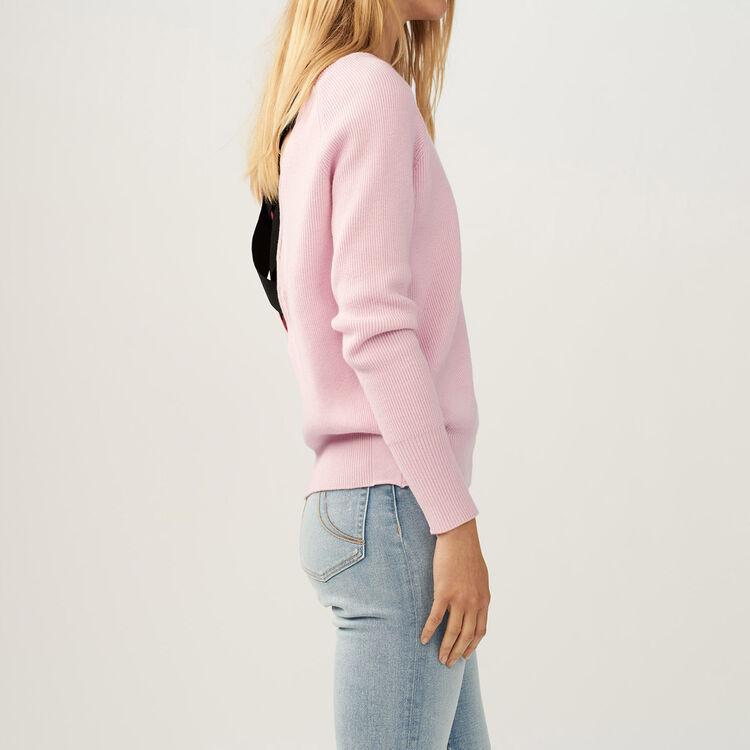 Jersey con bandas cruzdas en la espalda : Malla color LILA