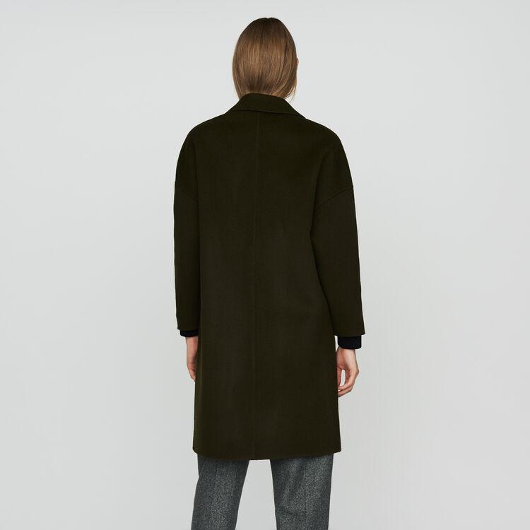 Abrigo de lana doble faz : Abrigos color Caqui