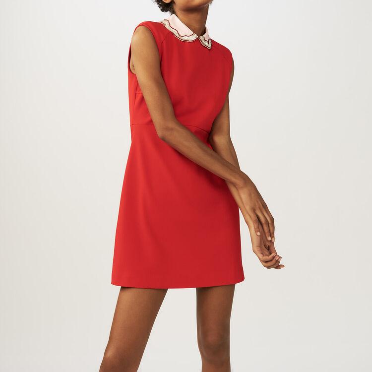 Vestido con cuello de camisa : Vestidos color ROUGE
