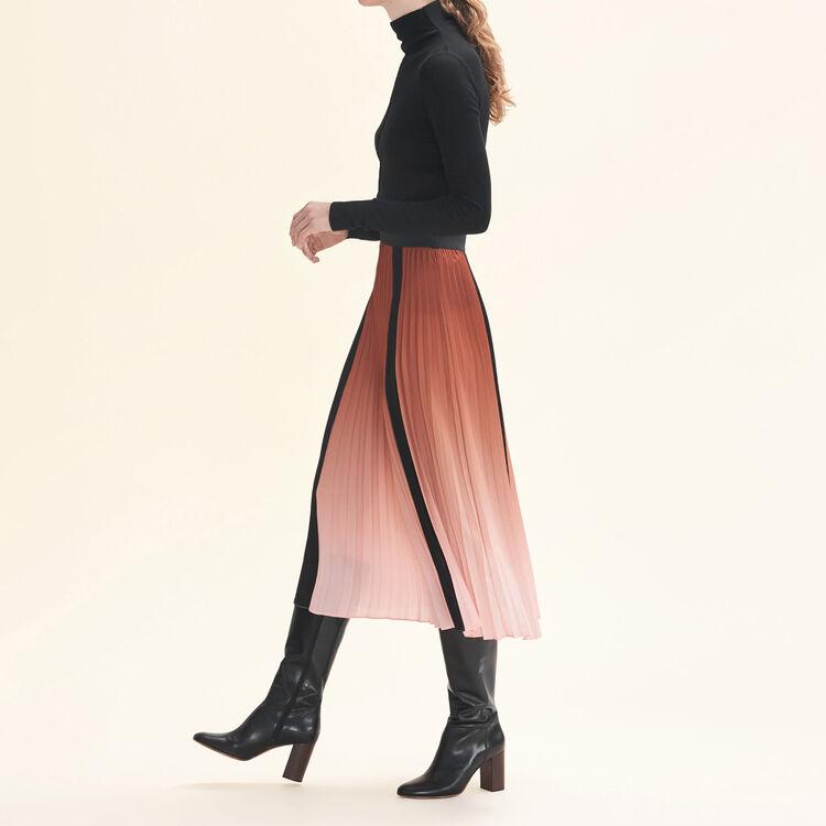 Falda plisada con teñido anudado : Faldas y shorts color Naranja