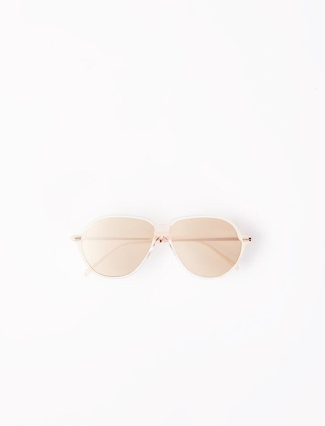 Gafas de sol aviador de acetato -  - MAJE