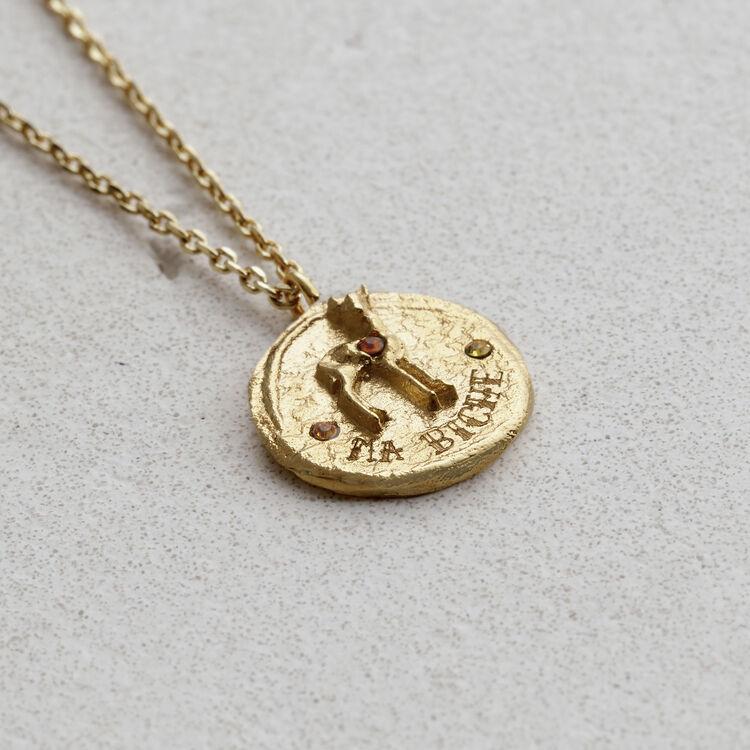 Collar con medallón : Bisuteria color OR