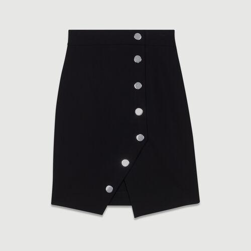 Falda lápiz con botones : Faldas y shorts color Negro
