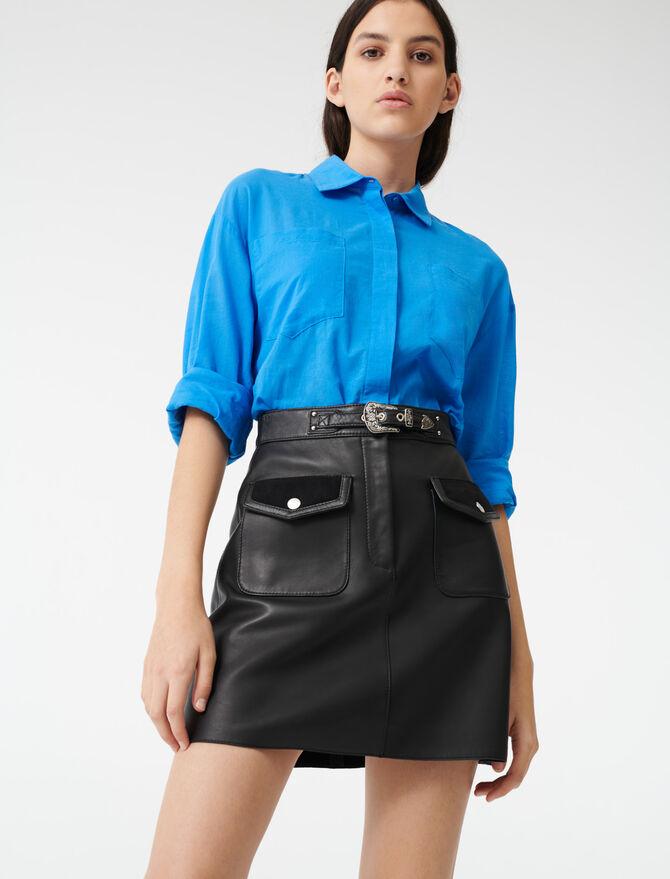Falda de cuero estilo western - Faldas y shorts - MAJE