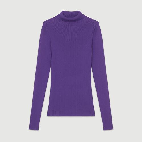 Jersey calcetín con cuello alto : Malla color Violeta