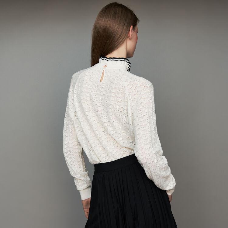 Jersey de punto espiguilla : Malla color ECRU