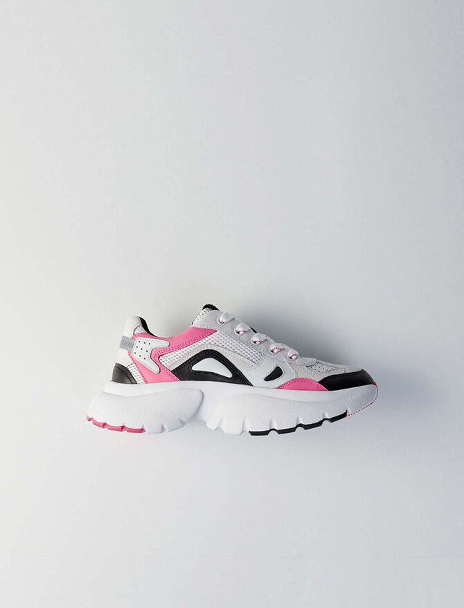 Sneakers W20 urbanos de cuero - Bolsos y Accesorios - MAJE