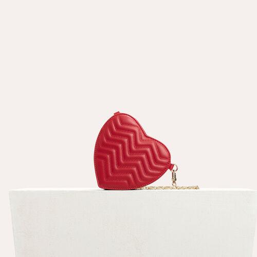 Bolso alforja de corazón, piel acolchada : Bolsas Star color Rojo