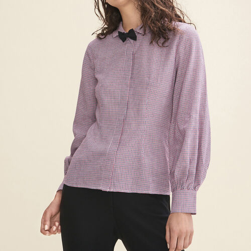 Camisa de cuadros finos : Tops color IMPRIME