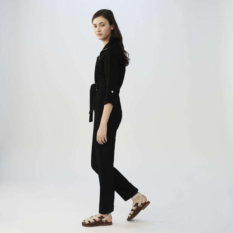 Mono pantalón de crepé : Monos color Negro