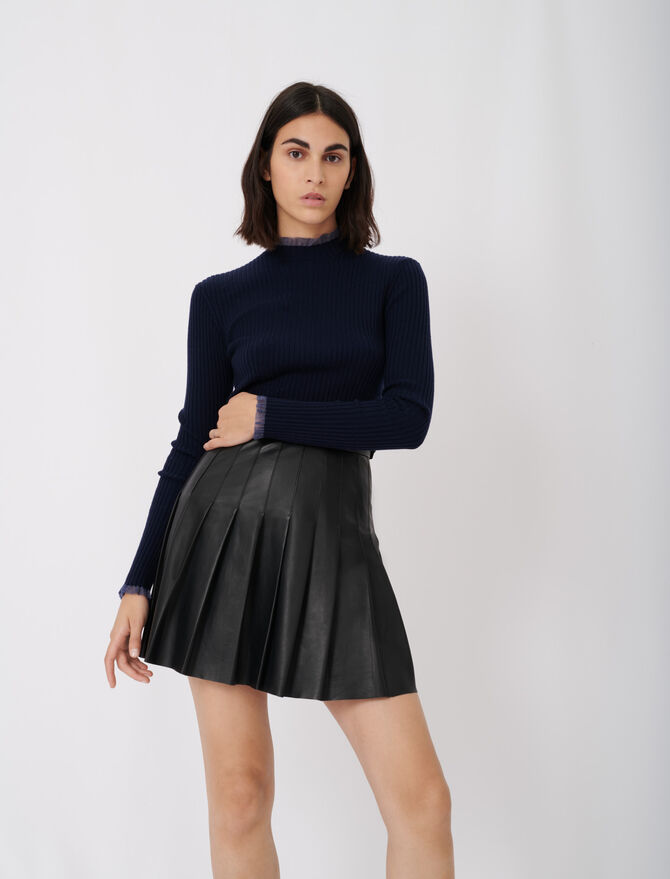 Falda plisada de cuero - Faldas y shorts - MAJE