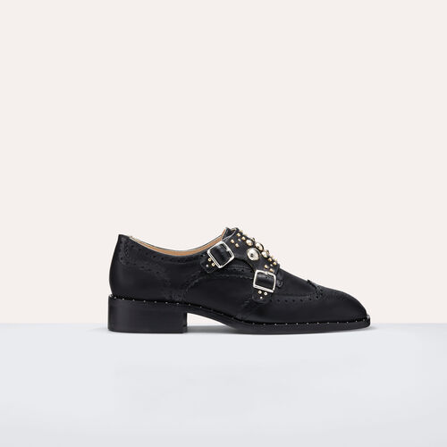 Derbies con tachuelas : Zapatos color Negro