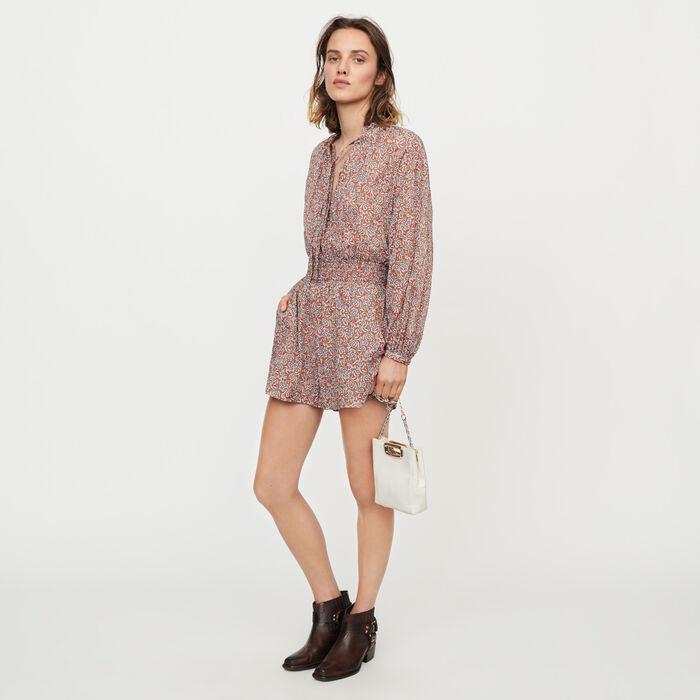 Mono short estampado floral : Faldas y shorts color Terracota