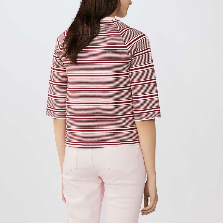 Jersey a rayas con bordados : Malla color Rayas