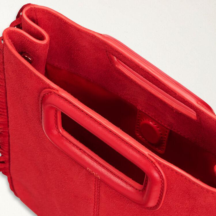 Bolso M de gamuza : Bolsos M color Rojo