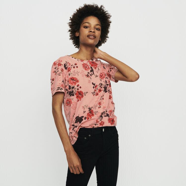 Camiseta estampado floral : T-Shirts color IMPRIME