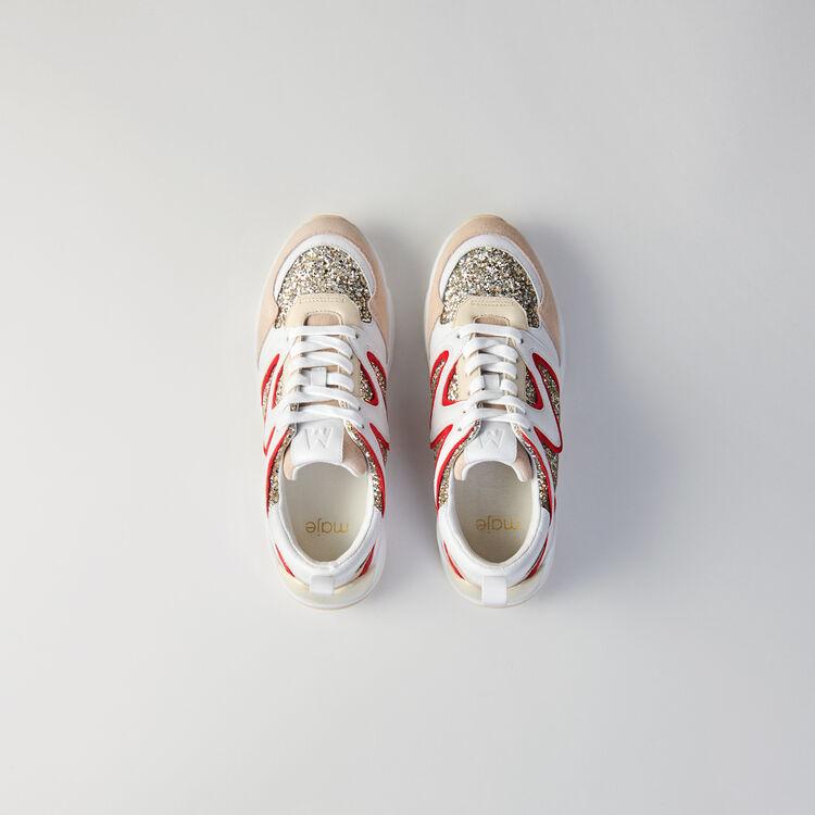 Sneakers W22 con brillantina : Sneakers color Plateado