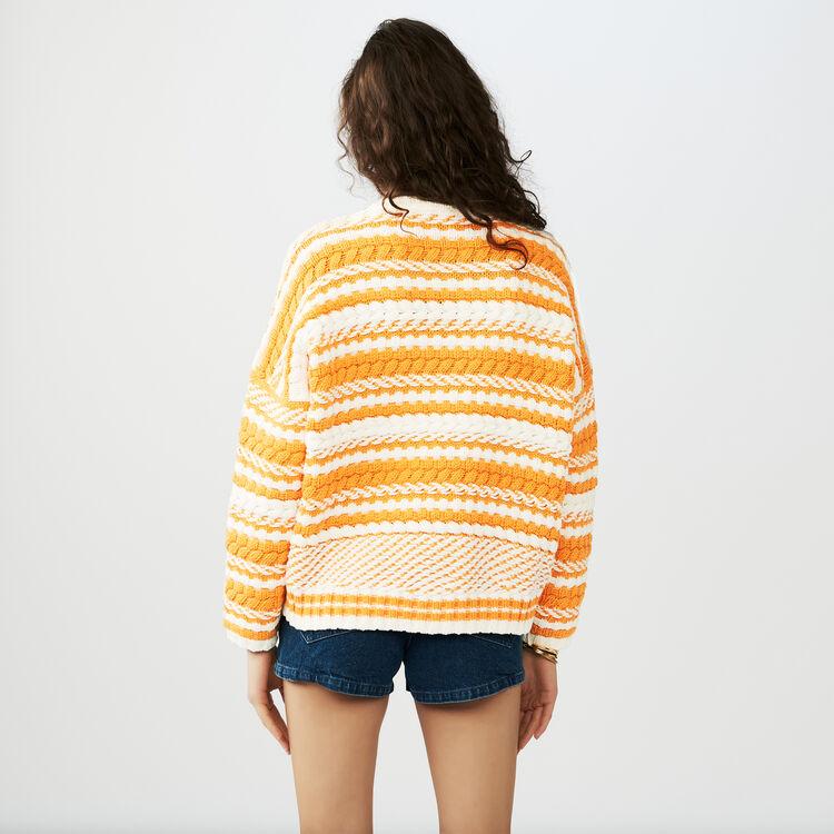 Jersey oversize de punto bicolor : Malla color Multicolor