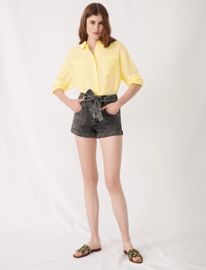 Short desteñido ceñido - Faldas y shorts - MAJE
