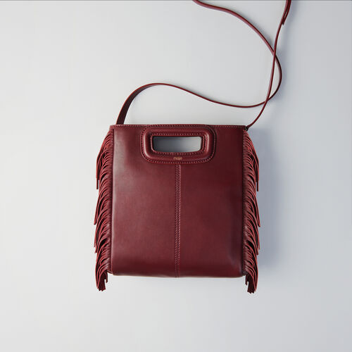 Leather M bag : Bolsos M color Burdeos