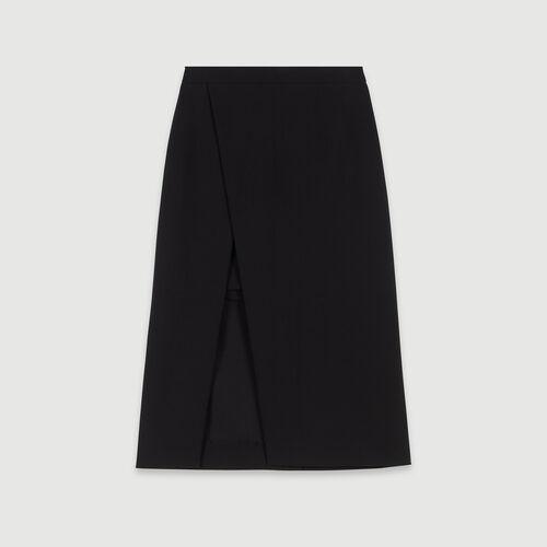 Falda midi recta y endida : Faldas y shorts color Negro