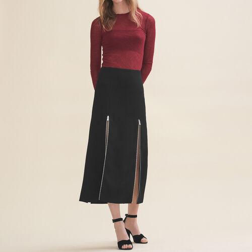 Falda larga de crepé - Faldas y shorts - MAJE