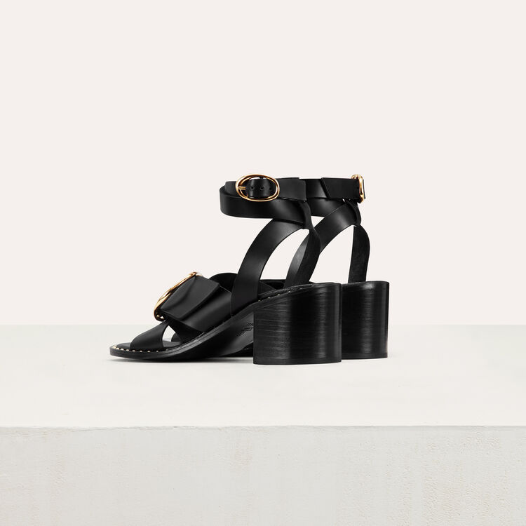 Sandal with buckle : Ver todo color Negro