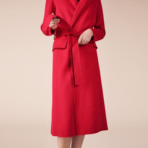 Abrigo de mezcla de lana : Abrigos color Beige