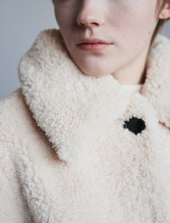Abrigo en piel falsa - Abrigos y Cazadoras - MAJE