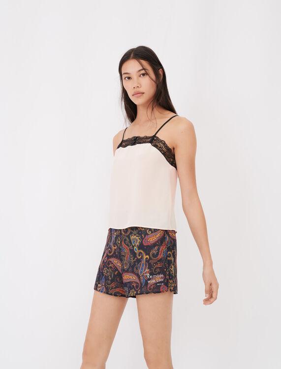 Conjunto de pijama estampado de encaje - Ecorresponsable - MAJE
