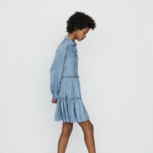 Vestido camisero de rayas y volantes : Vestidos color Rayas
