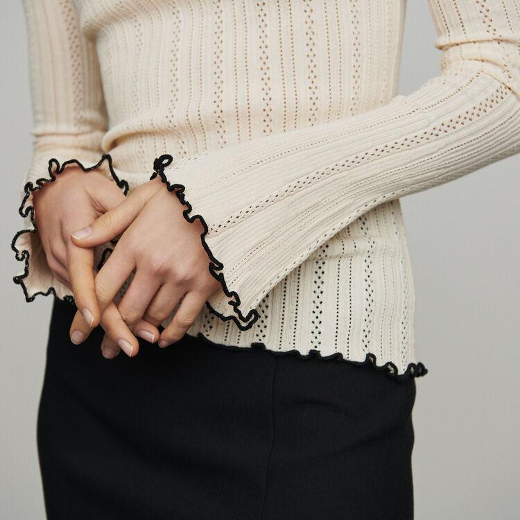 Jersey de punto calado : Jerseys y cárdigans color Blanco Roto
