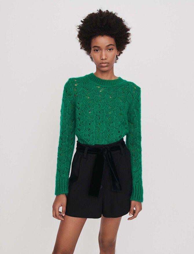 Short de terciopelo con cinturón - Faldas y shorts - MAJE