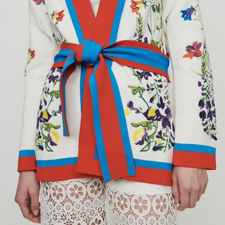 Cárdigan bordado de flores : Jerseys y cárdigans color Multicolor
