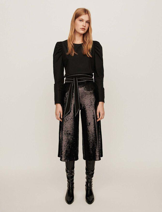 Pantalón con lentejuelas - Pantalones y Jeans - MAJE
