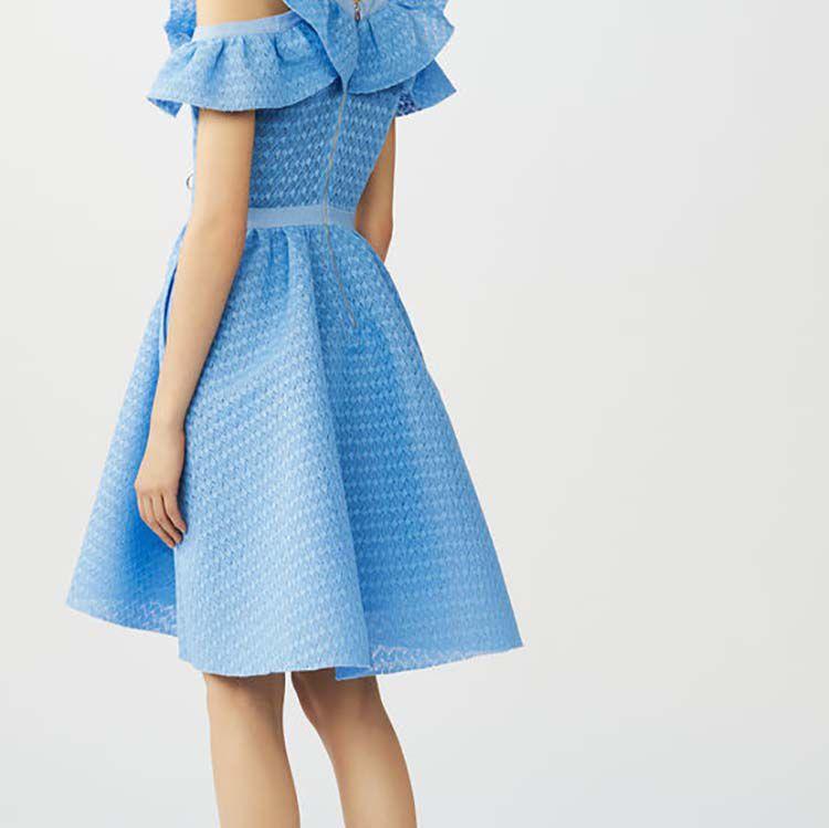 Vestido sin mangas de malla cesto : Vestidos color Azul