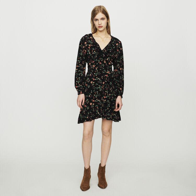 Vestido cruzado estampado : Vestidos color IMPRIME