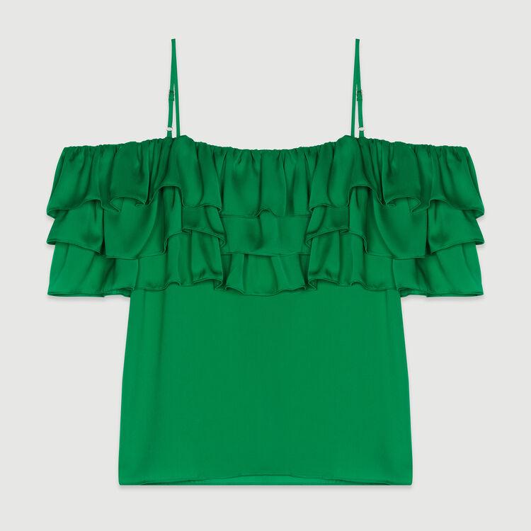 Top con tirantes y volante : Tops y Camisas color Mandarina