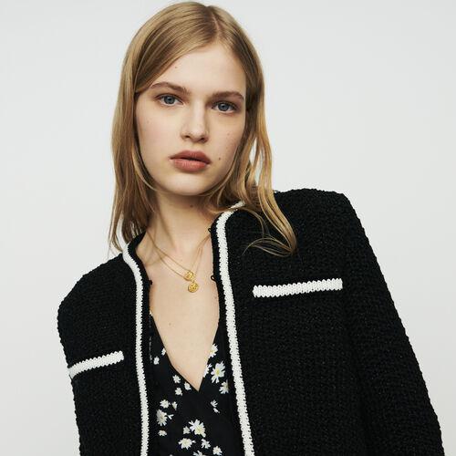 Cárdigan corto de punto : Jerseys y cárdigans color Negro