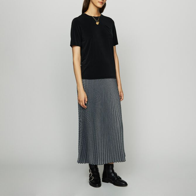 Camiseta de cupro - Ver todo - MAJE