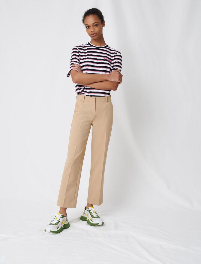 Pantalón de traje beige - Pantalones y Jeans - MAJE