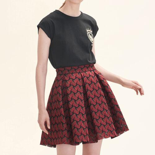 Falda de patinadora encaje contracolado : Faldas y shorts color IMPRIME