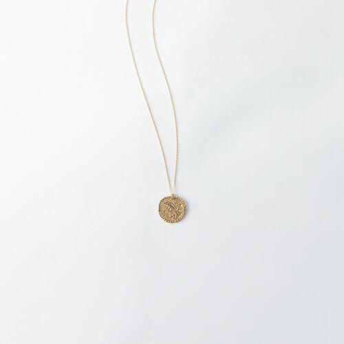 Collar de signo del Zodíaco Escorpión : Bisuteria color Latón Envejecido