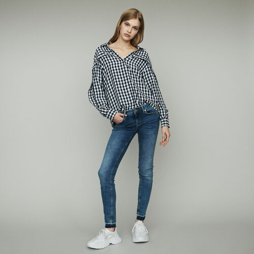 Blusa estampado vichy : Tops y Camisas color CARREAUX