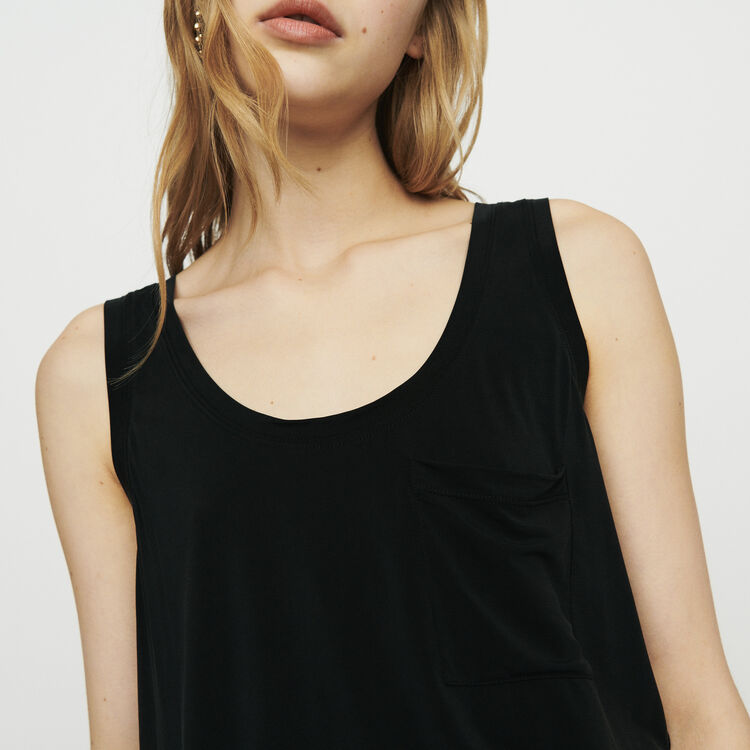 Camiseta sin mangas cuello : T-Shirts color NEGRO